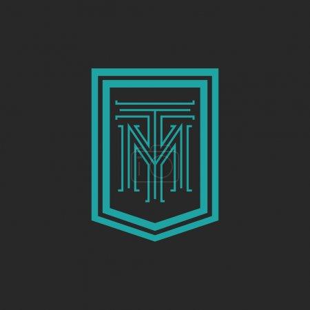 Monogram hipster frame form shield