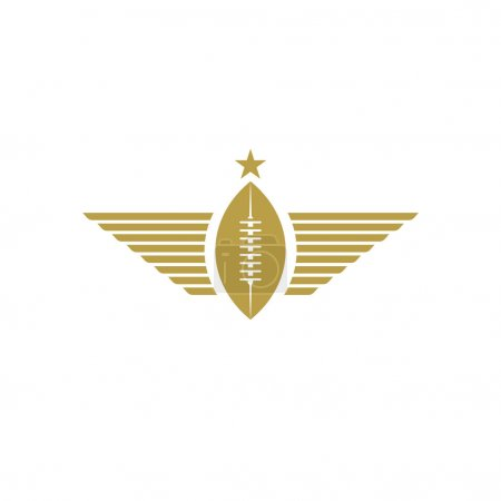 Rugby ball with wings icon