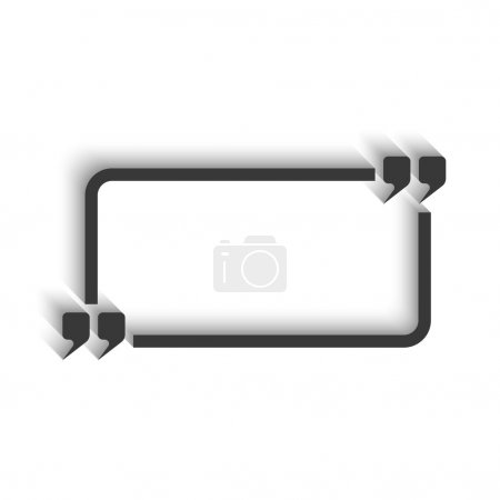 Quote and rectangle frame for text
