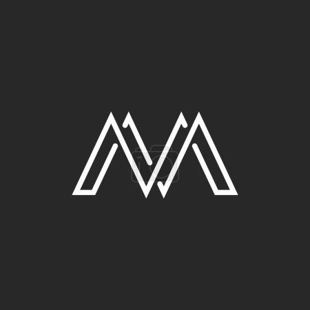 M monogram letter logo