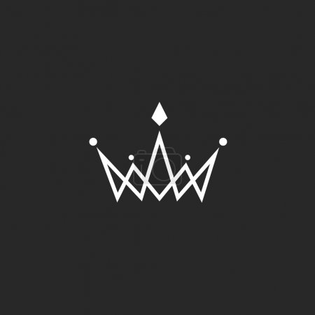 Crown logo monogram, mockup black and white royal ...
