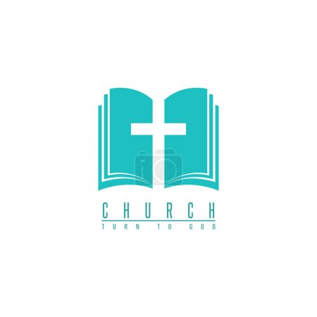 Church logo, cross and bible symbol