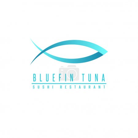 Bluefin tuna logo fish silhouette