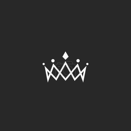 Royal crown logo mockup monogram