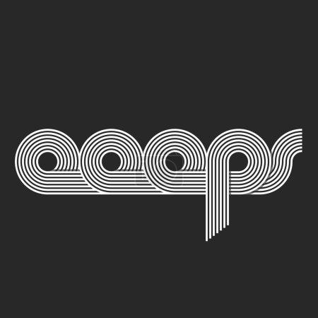 Illustration pour Ooops mot logo, lettrage, compensées style de trait qui se chevauchent, site message erreur - image libre de droit