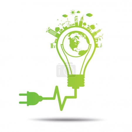 Illustration for World Green ecology City environmentally friendly . - Royalty Free Image