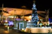 Abstraktní pozadí kruhový bokeh Vánoce a nový rok