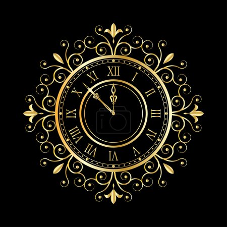 Gold clock vintage style