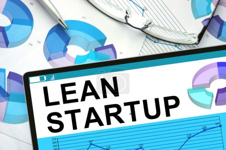 Lean Startup On tablet with graphs.