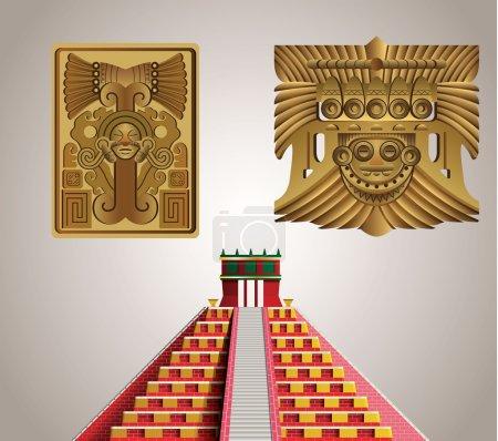 Illustration pour Symboles mayas - image libre de droit