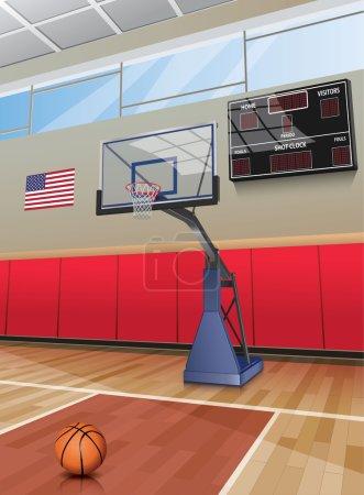Illustration for Basketball court - Royalty Free Image