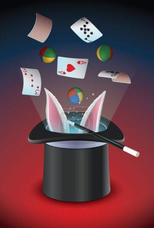 Illustration pour Chapeau magique - image libre de droit