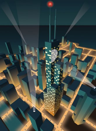 Illustration for City at night - Royalty Free Image