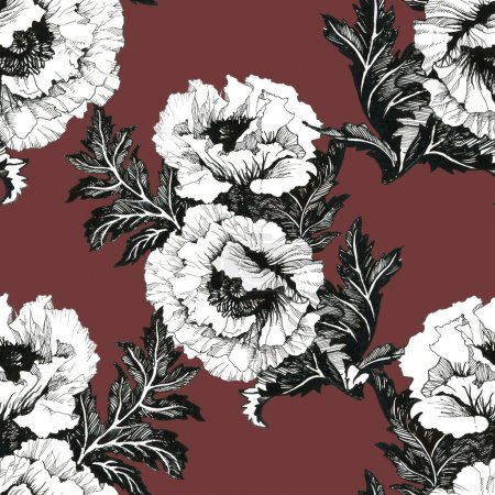 Peony floral background