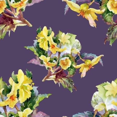 Summer garden flowers pattern