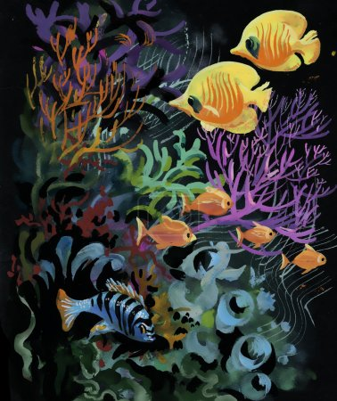 Marine life   with Tropical fish