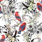 A fehér vadmadarak egzotikus piros