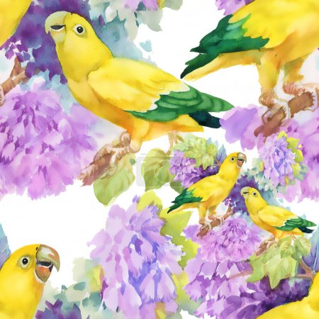 exotic parrots birds background