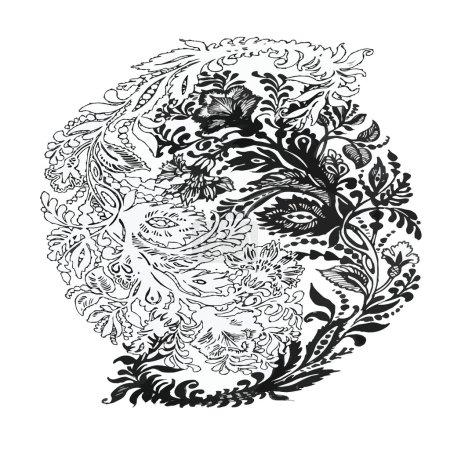 floral Paisley ornament