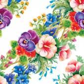 Vzorek louce rozkvetlé květiny
