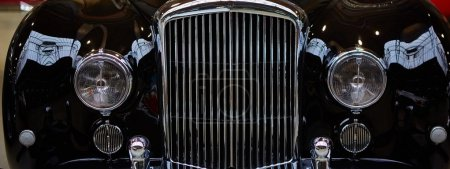 Photo for Detail of classic car. Close-up of headlight - Royalty Free Image