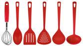 Kuchyňské potřeby - červený