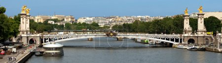 Paris - Panoramic view to Bridge of Alexandre III