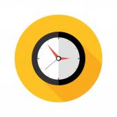 Illustration of Deadline Clock Flat Circle Icon