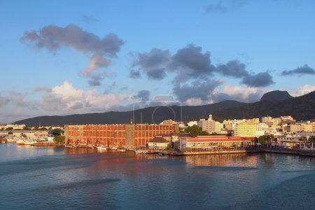 Waterfront of city Port Louis