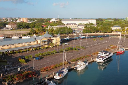 Parking and yachtclub Port Louis