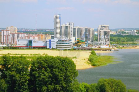 River coast and city. Kazan, Russia