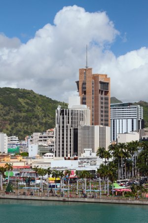 Embankment and city Port Louis