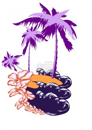 Palm on a desert island