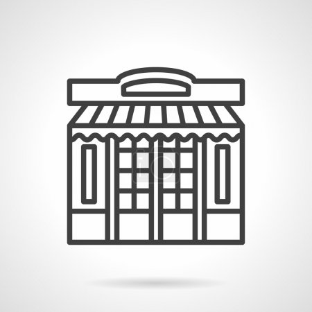Store front simple line vector icon