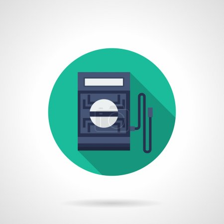 Digital tester flat round vector icon