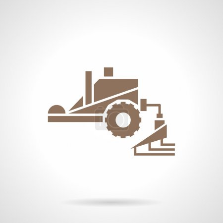 Fertilizing machinery glyph style vector icon