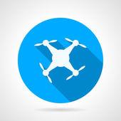 Circle vector icon for white quadrocopter