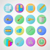 Circle vector icons for linoleum flooring service
