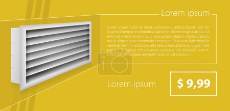 Vector ad layout for ventilation shutters