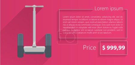flache Vektor minimalistische Vorlage Business-Design. Segway.