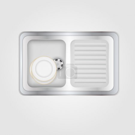 Vector illustration of kitchen sink
