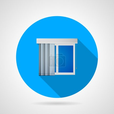 Flat vector icon for window with vertical louvers