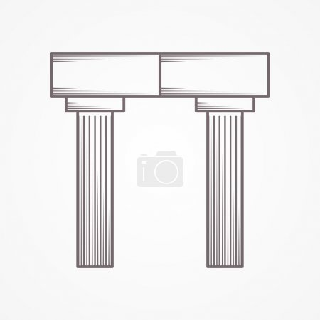 Icon for column arch