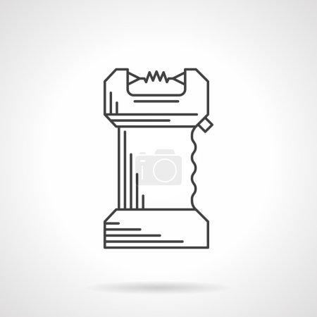 Black line flat vector icon for taser