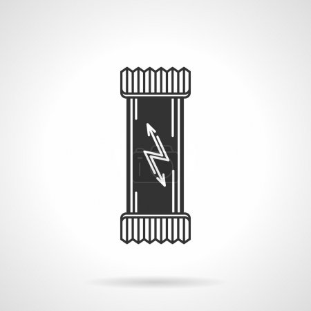 Black vector icon for protein bar