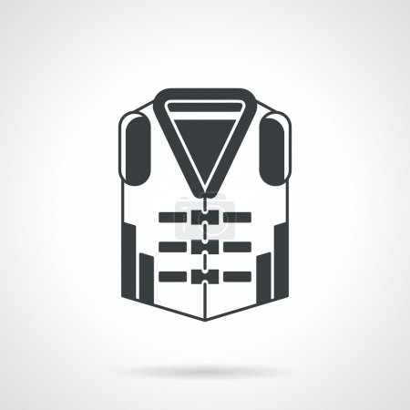 Protection vest black vector icon