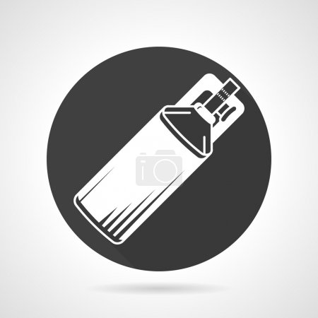Co2 cylinder black round vector icon