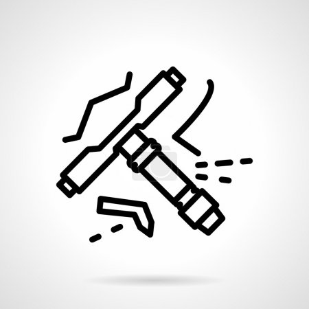 Longboard tool line vector icon