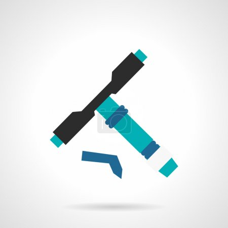Longboard tool flat vector icon