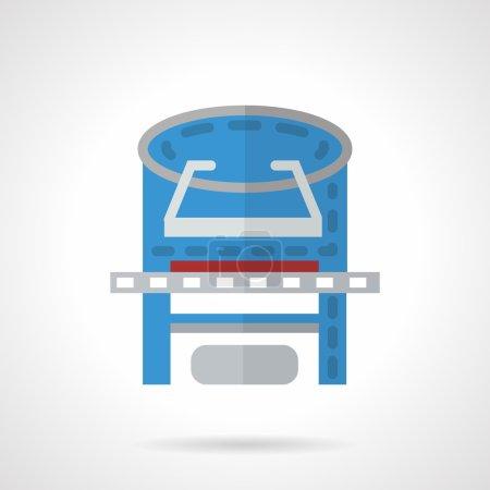 Colored xray machine flat vector icon